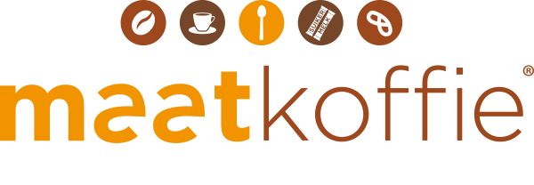 logo Maatkoffie pay-off wit